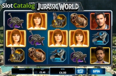 jurassic world, a sequel to the cult classed jurassic park film  also a inspired a slot game